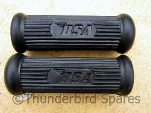 Footrest Rubbers,Pillion,BSA A50/A65, With Logo,1962-73, 82-9603